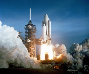 Image of Shuttle Columbia launch