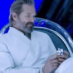 Jeff Bridges in his white monk suit.